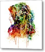 The Girl Is A Dj Metal Print