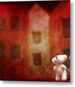 The Girl With Teddy Bear Metal Print