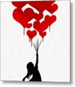 The Girl With The Red Balloons Metal Print