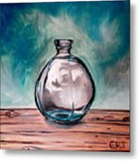 The Glass Bottle Metal Print