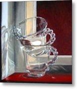 The Glass Cups Metal Print