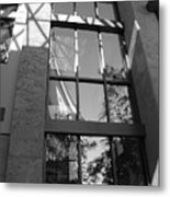 The Glass Window Metal Print