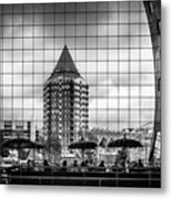 The Glass Windows Of The Market Hall In Rotterdam Metal Print