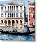 The Gliding Gondola Metal Print