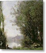 The Goatherd Beside The Water  Metal Print