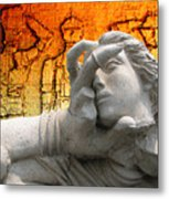 The Gods Watched In Astonishment As The Hero Battled On Against All Odds Metal Print