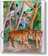 The Gold Of The Tigers Metal Print