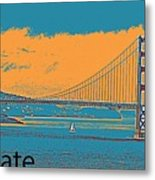 The Golden Gate Bridge In Sfo California Travel Poster 2 Metal Print