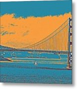 The Golden Gate Bridge In Sfo California Travel Poster Metal Print