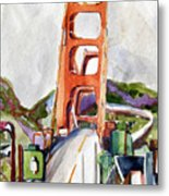 The Golden Gate Bridge San Francisco Metal Print