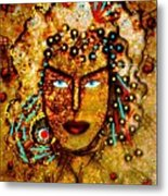 The Golden Goddess Metal Print