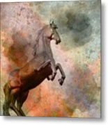 The Golden Horse Metal Print by Issabild -