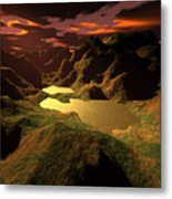 The Golden Lake Metal Print
