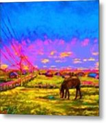 The Golden Meadow Metal Print
