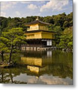 The Golden Pagoda In Kyoto Japan Metal Print