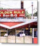 The Golden Rule Bbq In Birmingham Metal Print