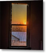 The Golden Sunset Metal Print