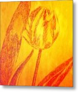The Golden Tulip Metal Print