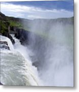 The Golden Waterfall Metal Print by Elena Tudor