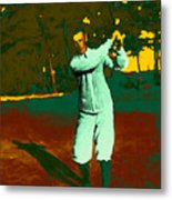 The Golfer - 20130208 Metal Print by Wingsdomain Art and Photography