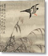 The Goose That Takes Off Metal Print