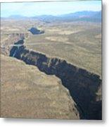The Gorge Bridge In Taos Metal Print