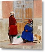 The Gossips Gossip Sitting In The Portal Were Counted Metal Print