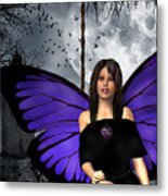 The Gothic Fae Lady Metal Print