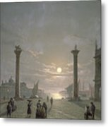 The Grand Canal From Piazza San Marco Metal Print