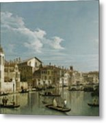 The Grand Canal In Venice From Palazzo Flangini To Campo San Marcuola Metal Print