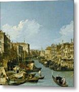 The Grand Canal Near The Rialto Bridge. Venice Metal Print