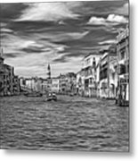 The Grand Canal - Paint Bw Metal Print