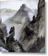 The Grand Canyon Drawing            Metal Print