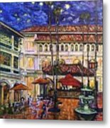 The Grand Dame's Courtyard Cafe  Metal Print