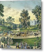 The Grand Drive, Central Park, New York, 1869 Metal Print