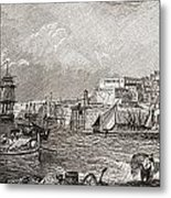 The Grand Harbour, Valetta, Malta After Metal Print