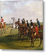 The Grand Leicestershire Steeplechase, March 12, 1829  The Start Metal Print