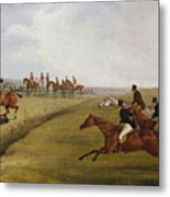 The Grand Leicestershire Steeplechase, March 12th, 1829 Metal Print