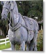 Horse At The Grand Oaks Resort Metal Print