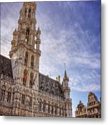 The Grandeur Of The Grand Place Brussels  Metal Print