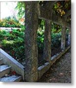 The Grape Arbor Path Metal Print