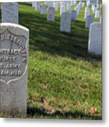 The Grave Of Martha B. Ellingsen In Arlington's Nurses Section Metal Print