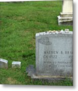 The Grave Of Mathew Brady -- Renowned Photographer Of The American Civil War Metal Print