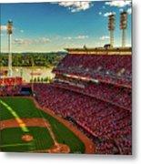 The Great American Ball Park - Cincinnati Metal Print