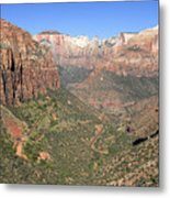 The Great Canyon Of Zion Metal Print