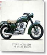 The Great Escape Motorcycle Metal Print