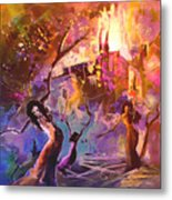 The Great Fire Of Woman Metal Print