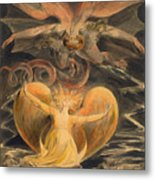 The Great Red Dragon And The Woman Clothed With The Sun Metal Print