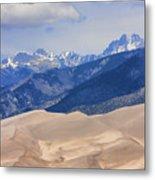 The Great Sand Dunes Color Print 45 Metal Print