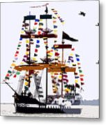 The Great Ship Gasparilla Metal Print